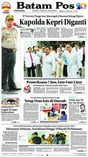 Cover Batam Pos 14 Agustus 2018