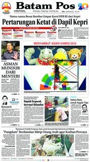 Cover Batam Pos 15 Agustus 2018