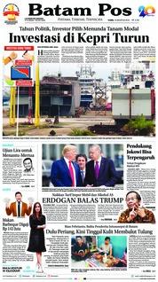 Cover Batam Pos 16 Agustus 2018