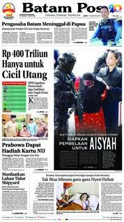 Cover Batam Pos 17 Agustus 2018