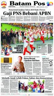 Cover Batam Pos 18 Agustus 2018