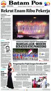 Cover Batam Pos 19 Agustus 2018