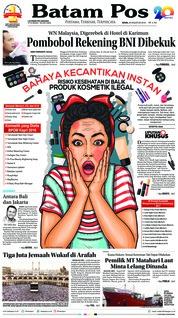Cover Batam Pos 20 Agustus 2018