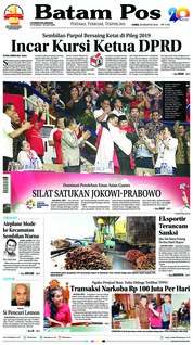 Cover Batam Pos 30 Agustus 2018