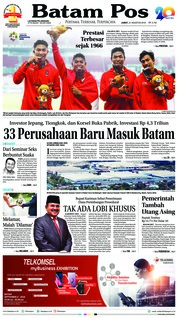 Cover Batam Pos 31 Agustus 2018