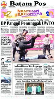 Cover Batam Pos 04 September 2018
