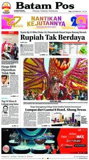 Cover Batam Pos 05 September 2018