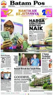 Cover Batam Pos 06 September 2018