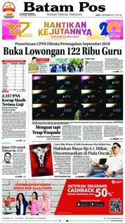 Cover Batam Pos 07 September 2018