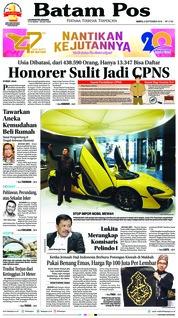 Cover Batam Pos 08 September 2018