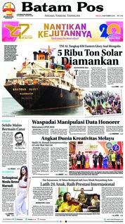 Cover Batam Pos 09 September 2018