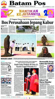 Batam Pos Cover 12 September 2018