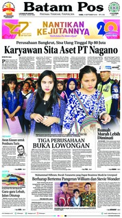 Batam Pos Cover 13 September 2018