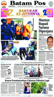 Batam Pos Cover 14 September 2018