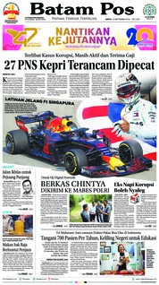 Cover Batam Pos 15 September 2018