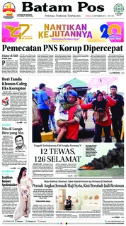 Cover Batam Pos 16 September 2018