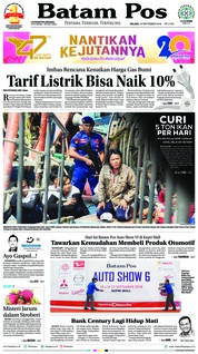Cover Batam Pos 18 September 2018