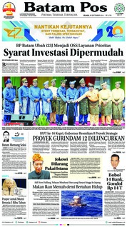 Cover Batam Pos 25 September 2018