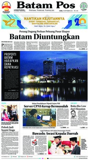 Cover Batam Pos 27 September 2018