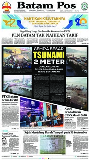 Cover Batam Pos 29 September 2018