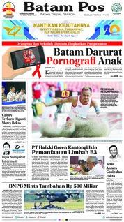 Cover Batam Pos 09 Oktober 2018