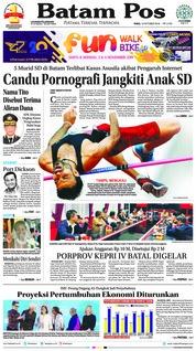 Cover Batam Pos 10 Oktober 2018