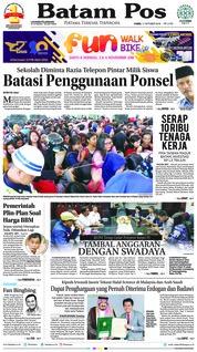 Cover Batam Pos 11 Oktober 2018