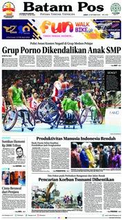 Cover Batam Pos 12 Oktober 2018