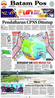 Cover Batam Pos 15 Oktober 2018
