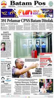 Cover Batam Pos 16 Oktober 2018
