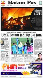 Cover Batam Pos 17 Oktober 2018