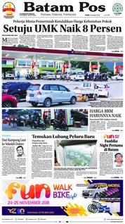 Cover Batam Pos 18 Oktober 2018