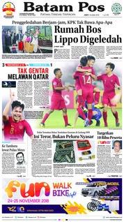Cover Batam Pos 19 Oktober 2018