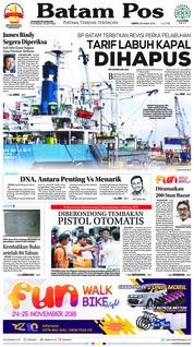 Cover Batam Pos 20 Oktober 2018