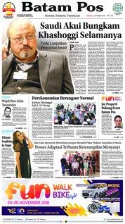 Cover Batam Pos 21 Oktober 2018