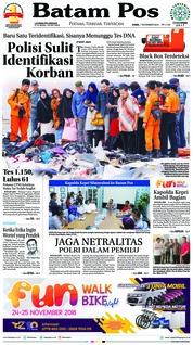 Cover Batam Pos 01 November 2018