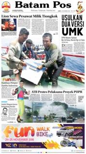 Cover Batam Pos 02 November 2018