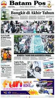 Cover Batam Pos 03 November 2018