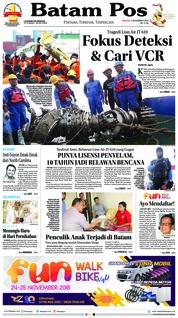 Cover Batam Pos 04 November 2018