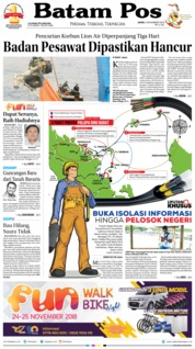 Cover Batam Pos 05 November 2018