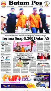 Cover Batam Pos 06 November 2018