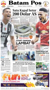Cover Batam Pos 07 November 2018