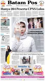 Cover Batam Pos 18 November 2018