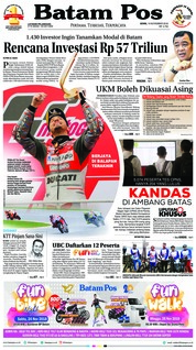 Cover Batam Pos 19 November 2018