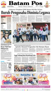 Batam Pos Cover 22 November 2018