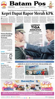 Cover Batam Pos 23 November 2018