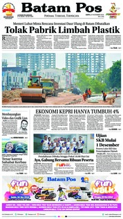 Batam Pos Cover 24 November 2018