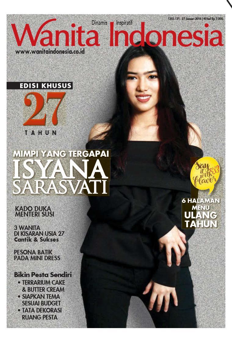 jual majalah wanita indonesia ed 1355 januari 2016