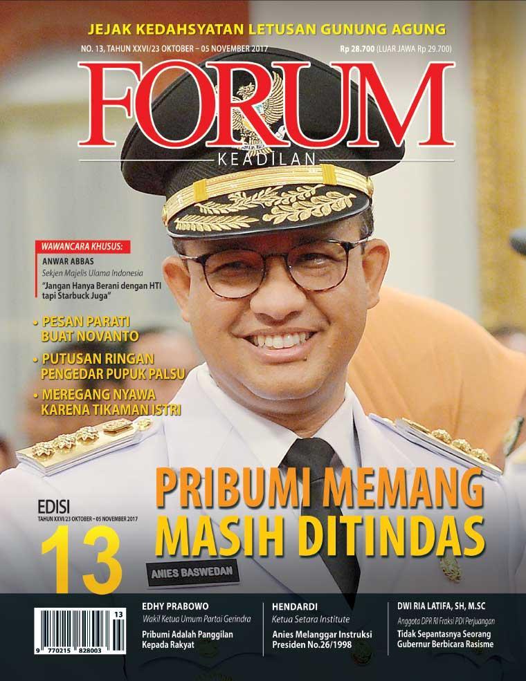 Majalah Digital Forum Keadilan ED 13 Oktober 2017