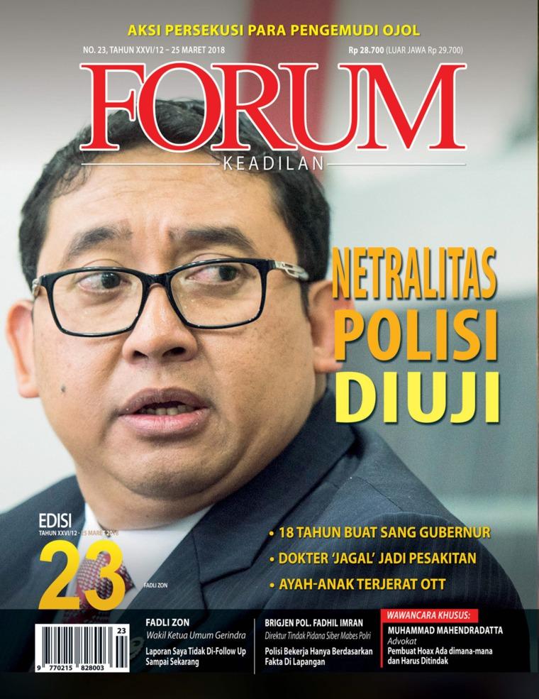 Majalah Digital Forum Keadilan ED 23 Maret 2018